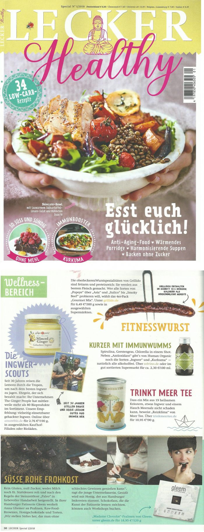 german magazine ginger people minced ginger