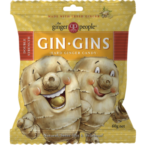 gin gins double strength - the ginger people - 60g bag