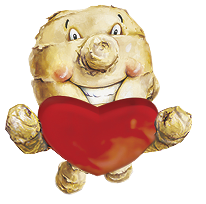 ginger people mascot logo heart