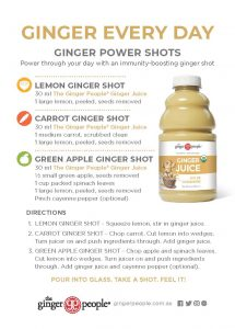 ginger shots - ginger people - ginger juice